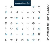 blue and gray arrow icon set | Shutterstock .eps vector #504523300