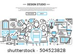 illustration of vector modern... | Shutterstock .eps vector #504523828