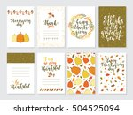 vector thanksgiving day... | Shutterstock .eps vector #504525094