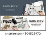 stock illustration. people in... | Shutterstock .eps vector #504528970