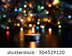 lighted candle for the new year ... | Shutterstock . vector #504529120