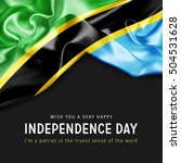 wish you a very happy tanzania... | Shutterstock . vector #504531628