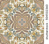 seamless bandanna with ornate... | Shutterstock .eps vector #504532360