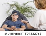 difficult teenage years ... | Shutterstock . vector #504532768