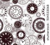 vector vintage clock dials... | Shutterstock .eps vector #504533068