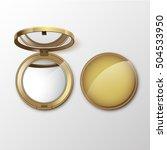 vector golden round pocket...   Shutterstock .eps vector #504533950