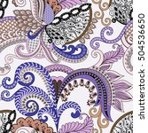 seamless  pattern with paisley  ... | Shutterstock .eps vector #504536650
