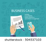 business cases concept  top... | Shutterstock .eps vector #504537103