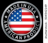 made in the usa american... | Shutterstock .eps vector #504542149