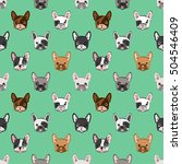 seamless pattern with cute... | Shutterstock .eps vector #504546409