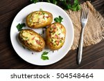 Baked Potato With Bacon  Chees...