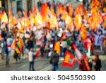 activists on the street de... | Shutterstock . vector #504550390