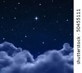 looking out to a wishing star... | Shutterstock . vector #50455111