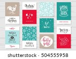 merry christmas invitation set....   Shutterstock .eps vector #504555958