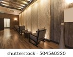 a massage room with chair ... | Shutterstock . vector #504560230