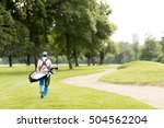 young man playing golf on the... | Shutterstock . vector #504562204