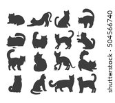 different breed cats. european... | Shutterstock .eps vector #504566740