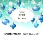 christmas background with... | Shutterstock . vector #504568219
