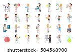 scientist character collection. ... | Shutterstock .eps vector #504568900