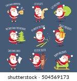 santa activities set. christmas ... | Shutterstock .eps vector #504569173