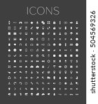 set of web icons for business ... | Shutterstock . vector #504569326