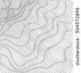 black and white wavy stripes....   Shutterstock .eps vector #504572896
