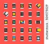 smartphones icons set. business ...