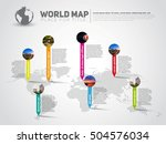 simple world map infographic... | Shutterstock .eps vector #504576034
