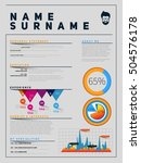 resume minimalist cv  template... | Shutterstock .eps vector #504576178