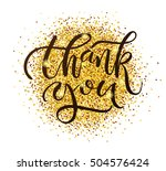 hand drawn thank you typography ...   Shutterstock .eps vector #504576424