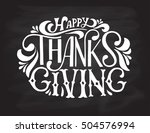 hand drawn thanksgiving... | Shutterstock .eps vector #504576994