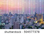 analysis stock market news in... | Shutterstock . vector #504577378