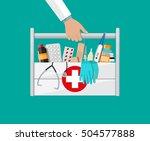 mediacal first aid kit in...   Shutterstock .eps vector #504577888