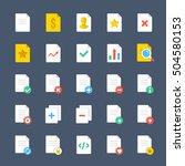 vector document icons set....
