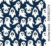 happy halloween seamless...   Shutterstock .eps vector #504581374