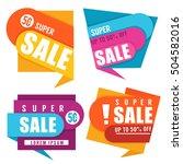 super sale  vector collection... | Shutterstock .eps vector #504582016