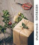 make christmas gift box ...   Shutterstock . vector #504583084