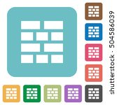 brick wall flat icons on color... | Shutterstock .eps vector #504586039