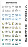 icons shopping vector color...