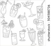 drinks by the glass  vector | Shutterstock .eps vector #504588736