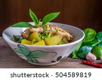 winter melon soup with chicken... | Shutterstock . vector #504589819
