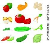 set of photo realistic vector... | Shutterstock .eps vector #504592786