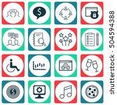 set of 16 universal editable... | Shutterstock .eps vector #504594388