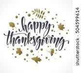 Happy Thanksgiving. Vector...
