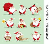 collection of christmas santa...