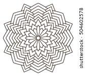 round outline mandala for... | Shutterstock .eps vector #504602578