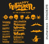halloween lettering set for... | Shutterstock .eps vector #504608398