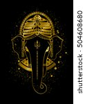 golden ganesha  or ganapati ... | Shutterstock .eps vector #504608680