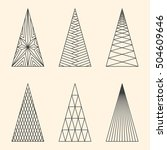 set of linear graphic stylized... | Shutterstock .eps vector #504609646