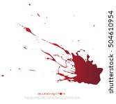 set of various blood or paint... | Shutterstock .eps vector #504610954